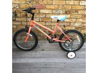 Child's bicycle with stabilisers 16 inches