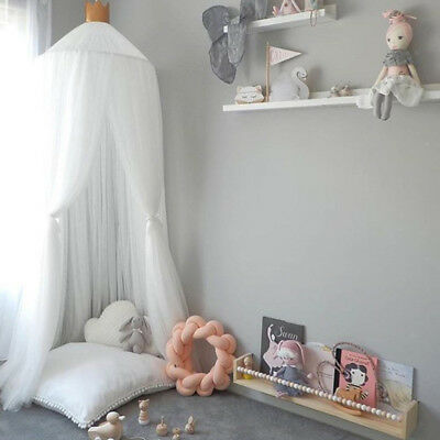 Elegante Kinderbett (Elegante Haube Bett Baldachin Kinderbett Moskitonetz Zelt Garn Vorhang)