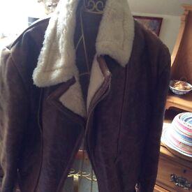 Jacket Leather Flying Jacket Ladies