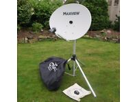 Portable satellite dish, Maxview 85cm