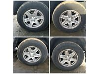 """235-70-16"""" Jeep Cherokee Four Alloy Wheels and Tyres Set Of Four"""