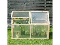 Wooden Transparent Greenhouse Cold Frame Raised Garden Planter 56397102