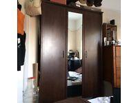 IKEA BRUSALI - 3-door mirrored wardrobe