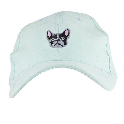 Lux Accessories Mint French Bulldog Embroidered Novelty Dad Hat Baseball Cap - French Bulldog Accessories