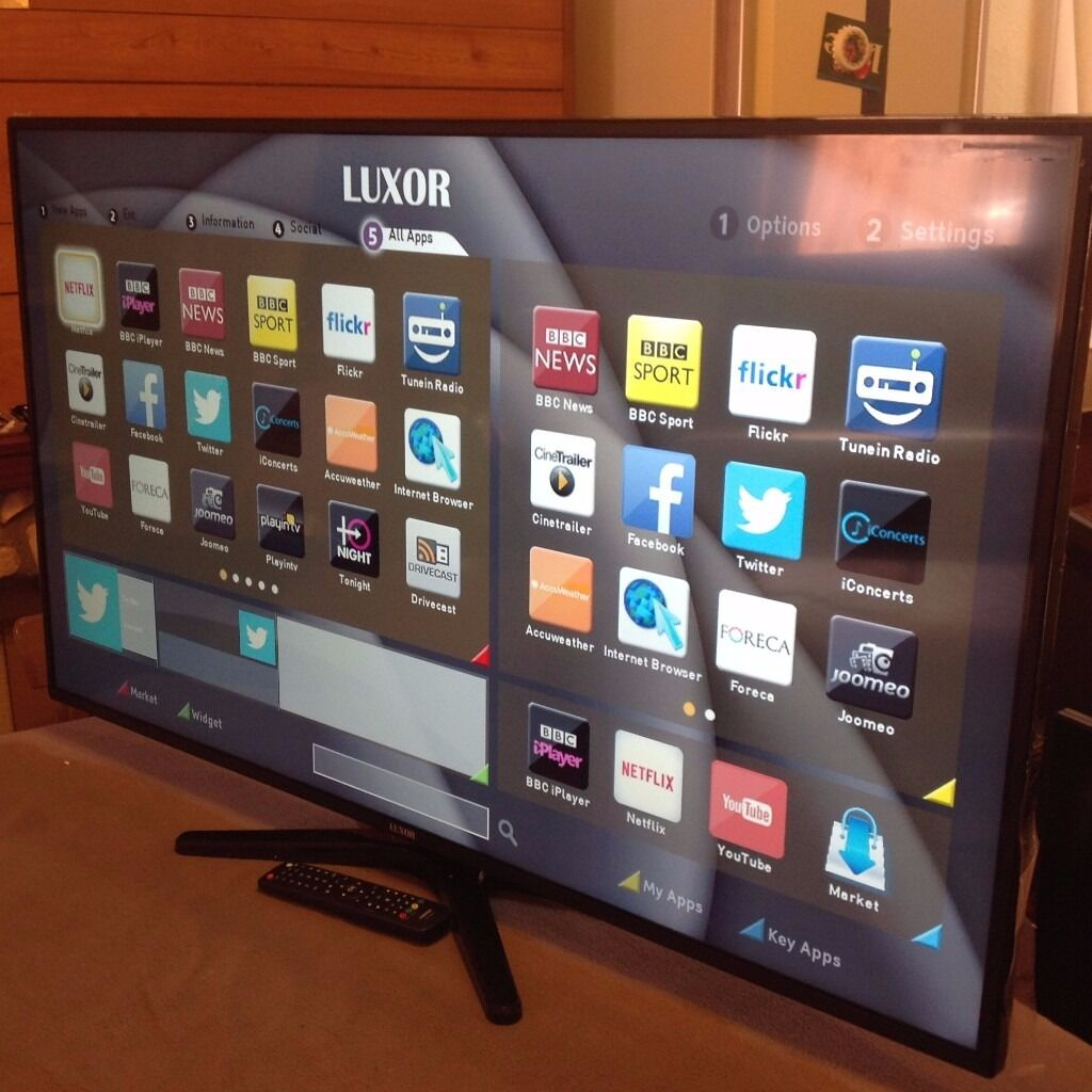LUXOR 40- Inch SMART FULL HD LED TV With Built-in Wifi
