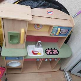 Little tykes wooden kitchen