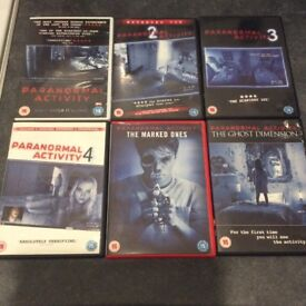 Complete Paranormal activity 1-6