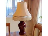 Maroon Table Lamp