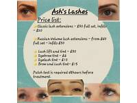 Eyelash Extensions and Lash lift with tint