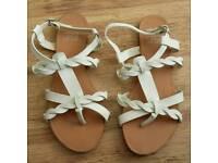 Womens/Girls white F&F sandals size 4