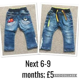 Assorted baby trousers