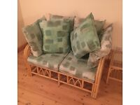 Cane Furniture Set (3 Chairs and Coffee Table)