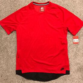 Nike Sportswear Bonded Mens T-Shirt (University Red) Size L
