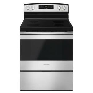 30-Inch Amana® YAER6303MFS Electric Range With Extra-Large Oven Window (BD-1621)