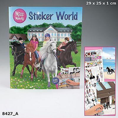 Depesche Miss Melody 330 Sticker World Mal- und Stickerbuch Malbuch Pferde 8427