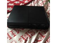 Black XBox One, 1TB in perfect condition. Comes with original cables and controller/headset