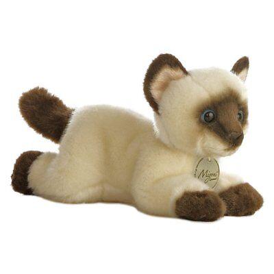 Miyoni Realistic 8 inch Siamese Siameze Simeze Ricky Ticky Kitty Cat AKC AU10814