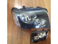 Left hand drive European headlights Freelander I facelift 2004 2005 2006 LHD for MOT TUV APK CT ITV