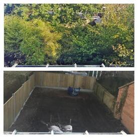 Garden clearances, overgrown garden services, garden clearing