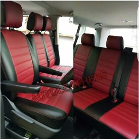 LEATHERETTE SEATCOVERS FOR VOLKSWAGEN TRANSPORTER T3 T4 T5 T6 SHUTTLE ROCK AND ROLL BEDS CUSHIONS