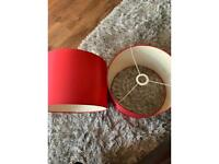 Red Stick Floor Lampshades x 2
