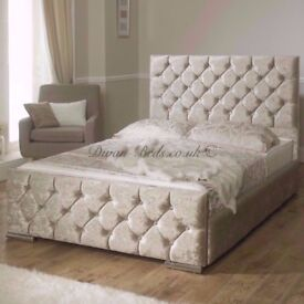 👏💓BEST SELLING BRAND EVER💓BRAND NEW👏CHESTERFIELD CRUSHED VELVET BED FRAME 4FT6 DOUBLE 5FT KING💓