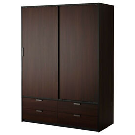 Ikea Trysil wardrobe in black-brown