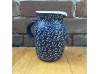Patterned Blue Jug