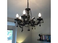 Marie Therese 5 light chandelier (black)