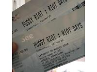2 x Tickets for Pussy Riot - Sat 18th August - Edinburgh - Sold out!
