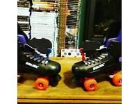 """""""Bauer"""" """"Champion"""" original quad rollerskates."""