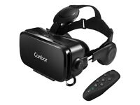 VR Headset with Remote Controller - Works with 4.7-6.2 Inches Apple iPhone, Samsung etc