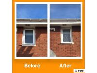 Pvc window frame and gutter cleaning.