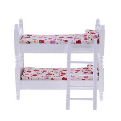 Kinder-schlafzimmer-möbel (1/12 Skala Puppenhaus Miniatur Kinder Schlafzimmer Möbel Etagenbett)