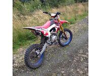 Welsh pit bike big wheel 2015 modle 140cc race tuned fast bike 650