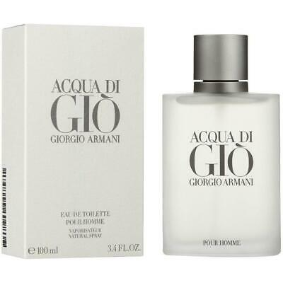 Giorgio Armani Acqua Di Gio 3.4oz / 100 mL Edt Cologne Spray For Men Brand New