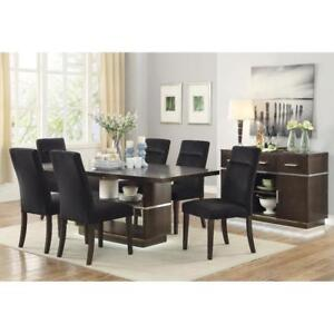 ONE WEEK BOXING DAY SALE!!! Coaster Furniture Contemporary LED Dining Table with Upholstered Chairs & Optional Server