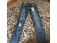 Newlook 915 skinny ripped jeans