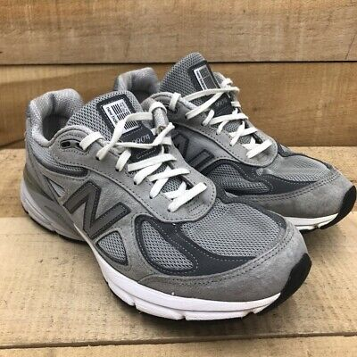 New Balance Womens 990 V4 Running Shoes Gray W990GL4 Low Top Lace...