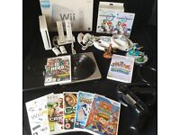 MASSIVE Bundle - Nintendo Wii + Controllers + Wheels + Games inc Mario Kart + Skylanders + More