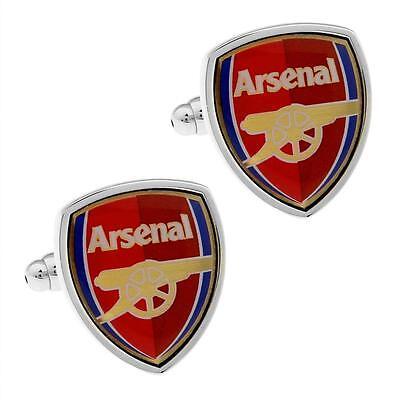 Arsenal FC Manschettenknöpfe Fußballclub Sports Team Fußball Neu W Geschenktüte (Arsenal Manschettenknöpfe)