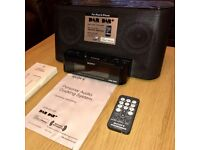 Sony XDR-DS12ip iPhone / iPod Dock with DAB Radio and remote control.