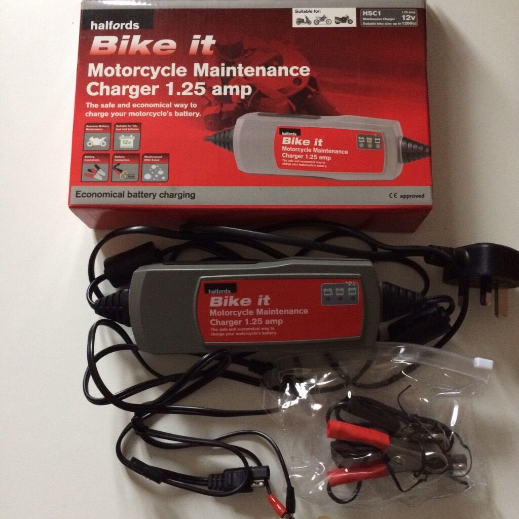 Halfords Motorcycle Maintenance Charger 1.25 Amp - as NEW : halfords amp wiring kit - yogabreezes.com