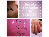 Beauty Therapist in training