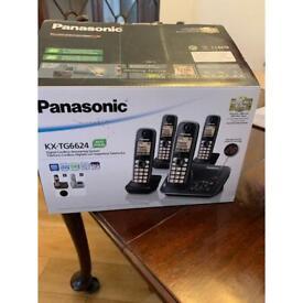 Panasonic KX-TG 6624 x 4 phones & answering machine.