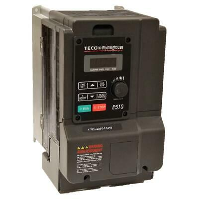 2 Hp 1 Or 3 Phase 230v Teco Nema 1ip20 Variable Frequency Drive E510-202-h-u