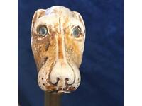 Walking Stick with Dog's Head Handle