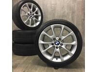 """18"""" used Genuine BMW 3 series f30 f31 alloy wheels & tyres delivery available"""