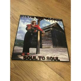 "SRV Stevie Ray Vaughan soul to soul first press 1985 12"" vinyl record record album"