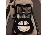 Next picnic Dinner Bag with wine cooler & glasses